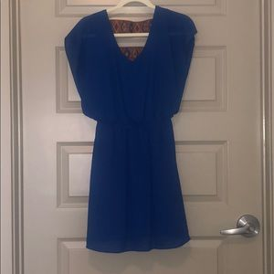 Blue Summer Dress with Strappy Back Design